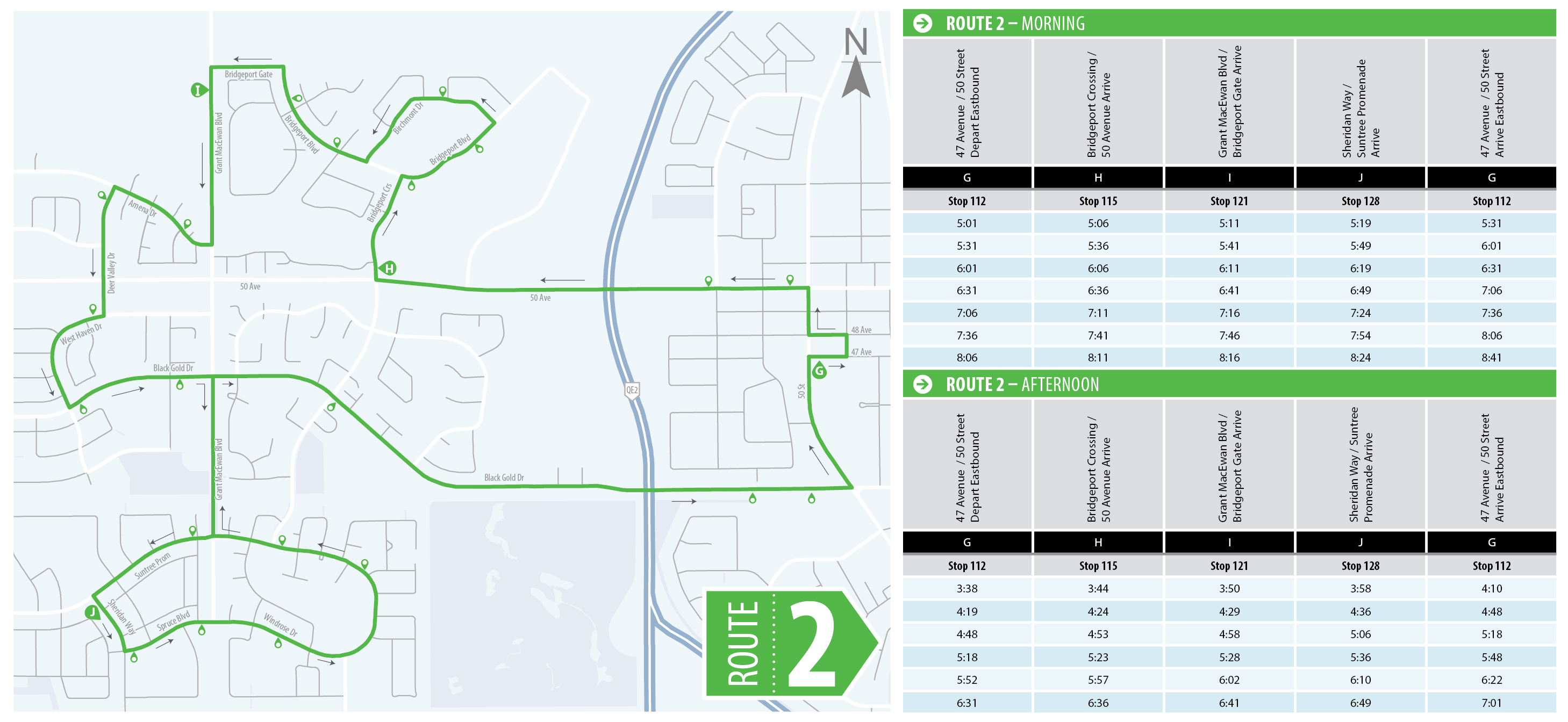 route 2 schedule and map | leduc transit